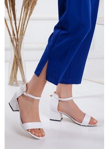 Dilimler Ayakkabı Sandalet Beyaz